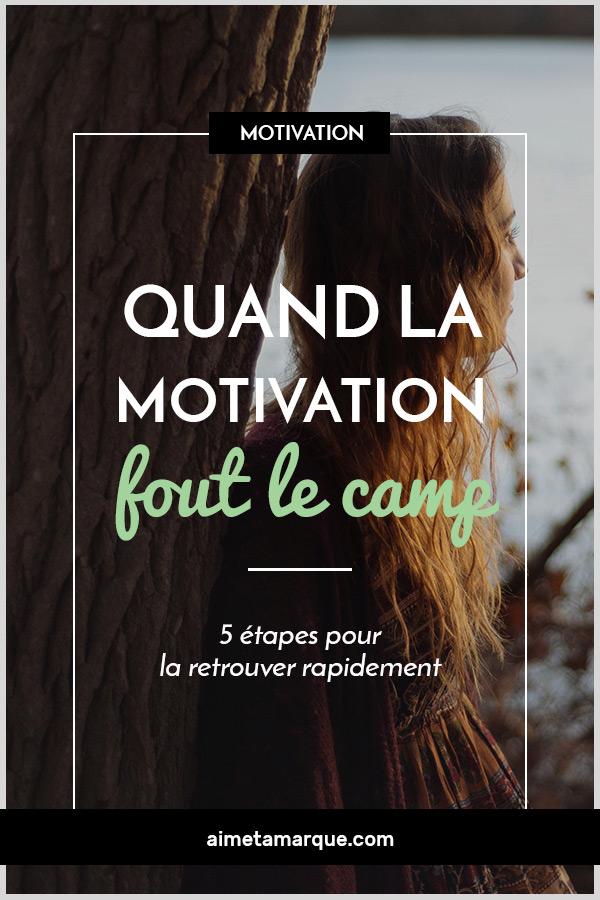Perdre sa motivation peut générer de l'angoisse, surtout pour une entrepreneure. Voici quelques trucs à essayer pour retrouver la motivation quand elle fout le camp! #motivation #productivité #guidepratique