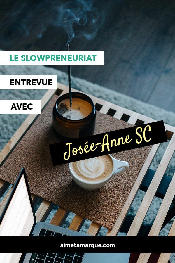 Josée-Anne Sarazin-Côtéa lancé plusieurs entreprises dans sa vie. Après la naissance de sa fille, elle a voulu repenser l'entrepreneuriat afin d'y intégrer la notion de temps pour soi. Sa nouvelle approche: le slowpreneuriat.