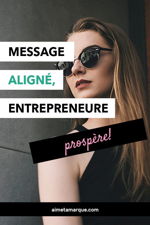 Sur l'importance pour les #entrepreneurs d'avoir un message aligné pour que leur #entreprise connaisse du #succès sur le long terme.. #business #affaires #communication