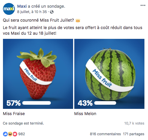 L'algorithme Facebook des solutions : l'interaction
