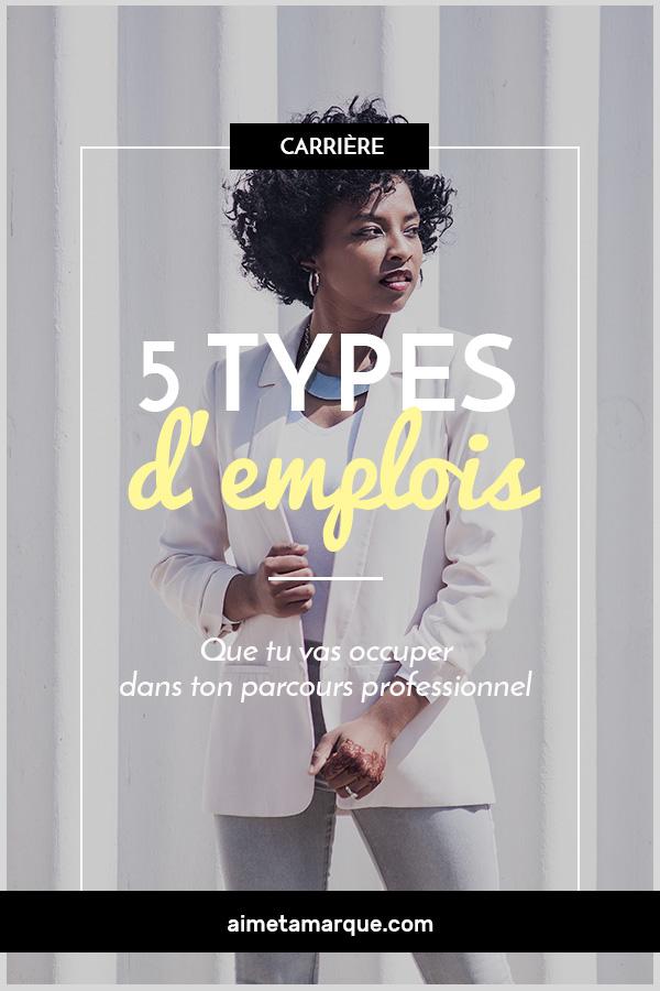 Voici une liste de ces différents types d'emploi que l'on occupe tour à tour lorsque l'on évolue sur le marché du travail. Dans lequel te reconnais-tu? #travail #carrière #emploi #développementpersonnel #entrepreneuriat #slasheuse