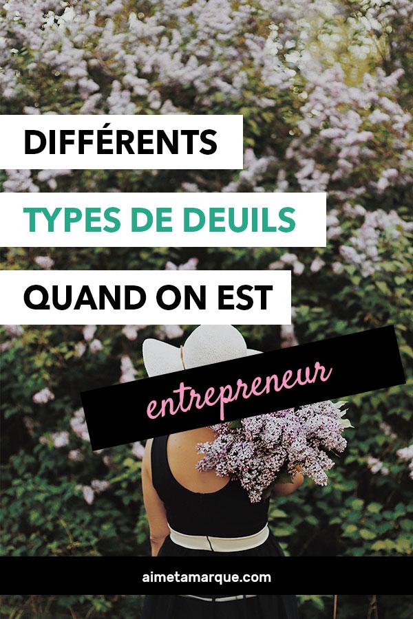 Différents deuils et naissances font partie de la vie d'un entrepreneur. Pourquoi ne pas les nommer pour mieux les apprivoiser? #entrepreneuriat #freelance #mindset #entreprise